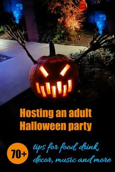 Adult Halloween party ideas - food, drink, decor, lighting, music and more great tips to make your next bash a success. #halloweenparty #halloween #partytips #partytime Easy Halloween Costumes, Halloween Food For Party, Outdoor Halloween, Halloween Kids, Halloween Crafts, Halloween Decorations, Halloween Stuff, Spooky Food, Adult Party Games