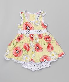 Loving this Forever Poppy Ruffle Dress & Bloomers - Infant & Toddler on #zulily! #zulilyfinds