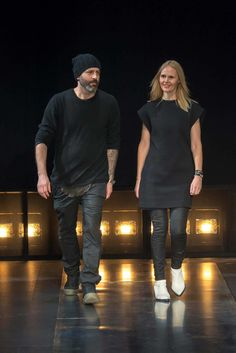 Helmut Lang Fall 2014 Ready-to-Wear Fashion Show - Michael and Nicole Colovos.