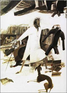 Don Quixote illustration by Roc Riera Rojas.  book-graphics.blogspot.com