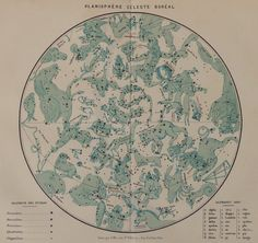 Antique Astronomical Chromolithograph.(By F.Meheux) Celestial northern planisphere Published by Firmin-didot in 1874. Not a copy 141 years old. Good condition.Reverse blank.  Ready for framing. Dimension 11x9 inches,or 30x23,5 cm Other similar prints in our shop: https://www.etsy.com/your/shops/CastafioreOldPrints/sections/13518875 Shipment by certified mail,cardboard tube or rigid envelope. Shipping is only paid for the first item. Thank you for your visit