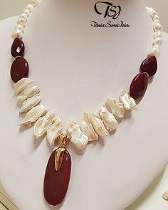 Diy Jewelry Necklace, Big Jewelry, Seashell Necklace, Statement Jewelry, Pearl Jewelry, Jewelry Crafts, Beaded Jewelry, Handmade Jewelry, Jewelry Design