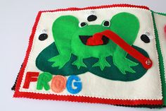 Frog page w/ long tongue that snaps onto the flies (This webpage shows a lot of great ideas!)