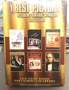 Academy Award Winners, Academy Awards, Best Picture Winners, Movie Categories, Terms Of Endearment, Police Academy, Vintage Records, Beautiful Mind, The Godfather