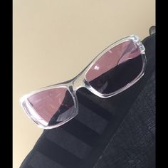 Versace Translucent Sunglasses with rose lenses Vintage Versace Translucent Sunglasses with rose colored lenses, preowned but in excellent condition, no scratches! No case Versace Accessories Sunglasses