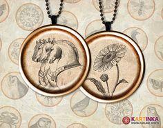 AGED EPHEMERA 1 inch Circles for Pendants magnets  by KARTINKAshop, $3.50