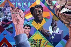 The Freedom Quilt, detail David Fichter - Public Mural Portfolio - Boston Murals - Boston Muralist