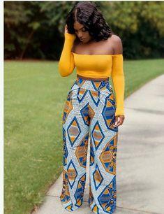 Black Girl Fashion Discover African clothing maxi pant/African women clothing/ Ankara Palasso pant/African print Trousers / Ankara long pants / latest African fashion s African Print Jumpsuit, African Print Dresses, African Dresses For Women, African Attire, African Wear, African Prints, African Fabric, African Outfits, Ankara Dress Styles