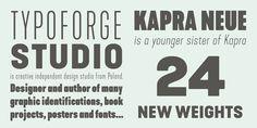 Kapra Neue - Webfont & Desktop font « MyFonts