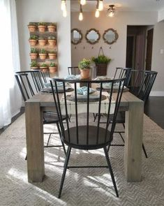 Cool 54 Modern Farmhouse Dining Room Decor Ideas More At