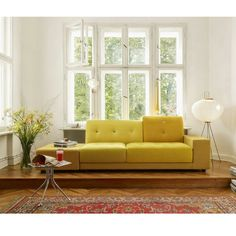 Vitra Hella Jongerius Polder Sofa Golden Yellow Fabric Mix
