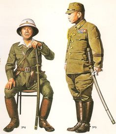 Esercito Imperiale Nipponico - Colonel and lieutenant-general Japanese Army 1944