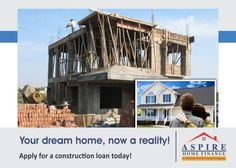 Our Home construction loan is perfectly suited to your needs; giving tailored and flexible finance to put building blocks to your dream home.