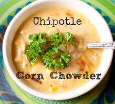 Recipe for a delicious corn chowder that is slightly spicy due to the addition of chipotle chili. Absolutely easy and delicious soup.