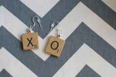 1989 Scrabble Letter Earrings! (Choose your letters) on Etsy, $15.00