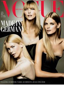 VOGUE-Cover, Claudia Schiffer, Julia Stegner, Nadja Auermann
