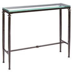 Lincoln Console Table, Pier 1 36w x 10d x 30h $199.95 - buy 2 for behind couch http://www.pier1.com/Lincoln-Console-Table/2707854,default,pd.html