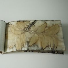 lotta helleberg hand made book with eco printed paper