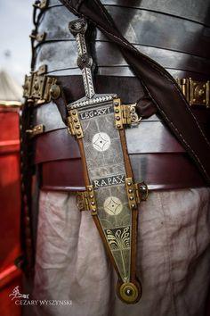 Roman dagger - silver inlaid pugio Type B.Proud owner: reenactor from Legio XXI Rapax