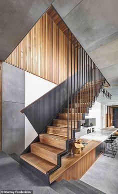Interior Design Examples, Interior Design Inspiration, Home Interior Design, Exterior Design, Wood Stairs, House Stairs, Pet Stairs, Home Stairs Design, House Design