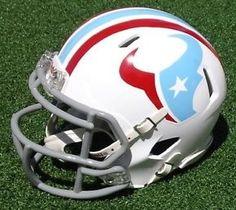 Houston Texans Texans Football, Football Players, Earl Campbell, Nfl Football Helmets, Houston Oilers, Helmet Logo, Nfl Logo, Helmet Design, Nfl Cheerleaders