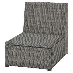 SOLLERÖN One-seat section, outdoor, dark gray. Create an armchair or customized sofa with SOLLERÖN modular sections. Use the one-seat section on its own or add armrests or more sections. Rattan Garden Furniture, Outdoor Furniture, Ikea Furniture, Modular Corner Sofa, Wood Supply, Ikea Family, Thing 1, Seat Pads, Polyurethane Foam