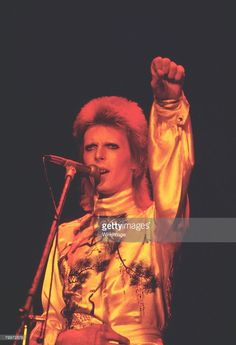 David Bowie performs as Ziggy Stardust, 1973