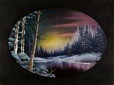 bob ross twilight beauty paintings More