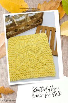 Knit So Easy quick & easy patterns = effortlessly cozy knitting. #KnittingPatterns #FallCrafts #Handknits Easy Knitting Patterns, Knitting Projects, Cross Stitch Patterns, Easy Patterns, Knitted Hats Kids, Knitted Baby Blankets, Crochet Cross, Knit Crochet, Fall Knitting