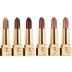 Yves Saint Laurent Rouge Pur Couture Golden Lustre Lipsticks ❤ liked on Polyvore featuring beauty products, makeup, lip makeup, lipstick and cosmetics