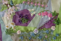 Crazy Quilt Stitches | Bleeding Hearts and Daisies , originally uploaded by ivoryblushroses .