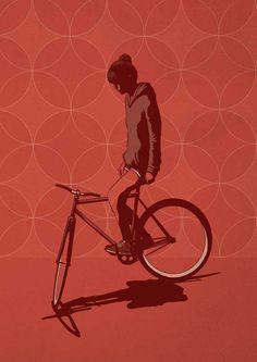 Image of Trackstand Girl print by Adams Carvalho