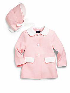 Oscar de la Renta - Infant's Two-Piece Spring Coat & Bonnet Set