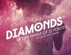 Diamonds (Typefamily) by HVD Fonts, via Behance