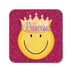 Princess Smiley Face Sticker - SRF
