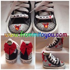 Mickey Mouse / Minnie Mouse Custom Converse by From Mi To You. www.frommitoyou.com #junkchucks#customconverse