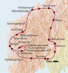 Auto-rund-reise Norwegen