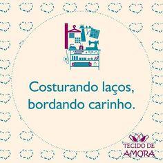 Bom dia!!! A Tecido de Amora sempre produzindo com amor!!! #bomdia #tecidodeamora