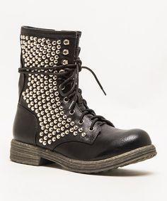 Look at this #zulilyfind! Black Ryanne Boot #zulilyfinds