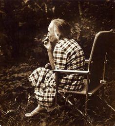 """Nadezhda Mandelstam, the wife of Russian poet Osip Mandelstam at her friend's dacha near Moscow.""  Photo: Gueorgui Pinkhassov (Born: Soviet Russia 1952 - ) Soviet Russia - near Moscow, 1979"