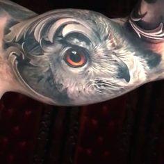 New forearm and healed bicep by Arlo Tattoos @arlotattoos 🦉 #TATTOODO #hennatattoo