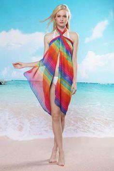 Rhodes Rainbow Beach Sarong Dress