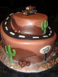 baby boy shower cakes disney pixar cars | MoniCakes: Disney Pixar's Mater Desert Scene Cake