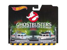 Ghostbusters Ecto 1 and Ecto 1A Set of 2 Cars Diecast Model Cars by Hotwheels - DVG08