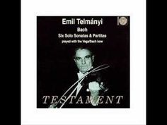Hungarian violinist Emil Telmanyi died on this day in 1988 – aged 95. He is remembered in history for having inventing the Bach bow – a bow designed to play and sustain 3 or 4 strings simultaneously.  Listen and enjoy his performance of Bach's Chaconne, played with this bach bow!
