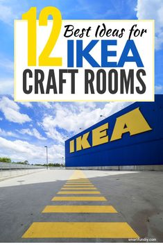 The BEST IKEA craft room storage ideas . everything you need to know to buy furniture for your craft room. Should you get an Alex or Linnmon desk, Billy or Kallax bookcase, the Raskog cart or something else? See REAL IKEA craft rooms from real crafters! Craft Room Storage, Ikea Craft Room, Craft Room Decor, Sewing Room Organization, Sewing Room Storage, Scrapbook Organization, Craftroom Storage Ideas, Ikea Sewing Rooms, Small Sewing Rooms