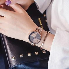 eade584ddbd7 Splicing dial fashion women quartz watches simple gold female clock ulzzang luxury  brand stainless steel ladies