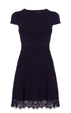 Lace Hem Bandage Knit Dress