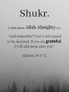 Blessings of Gratitude [ Shukr ] Prophet Muhammad Quotes, Hadith Quotes, Muslim Quotes, Religious Quotes, Quran Quotes Inspirational, Islamic Love Quotes, Motivational Quotes For Life, Fact Quotes, Grateful Quotes
