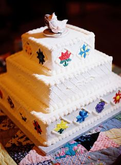 ~Southern Weddings - quilt cake